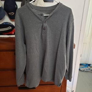 LL Bean 1/4 Button Up Thermal
